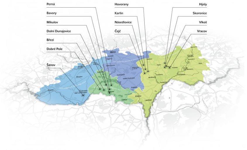 Mapa našich vinic